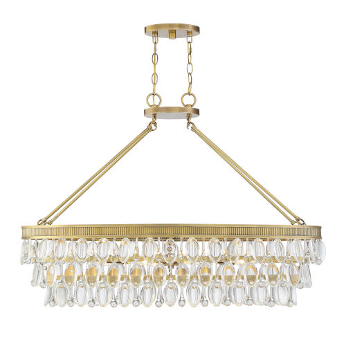 Kelly Warm Brass Eight-Light Chandelier