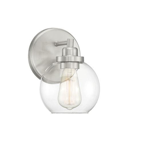 Fredrick Satin Nickel One-Light Bath Vanity