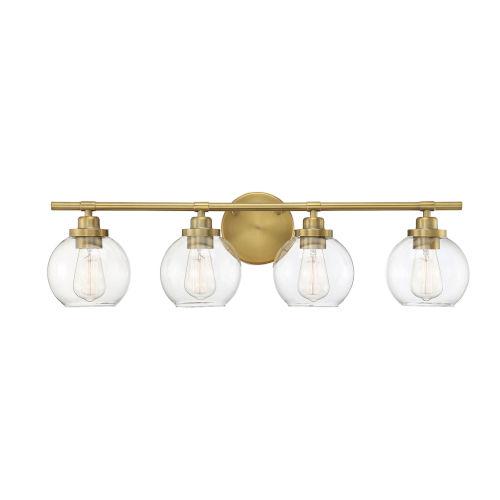 Fredrick Warm Brass Four-Light Bath Vanity