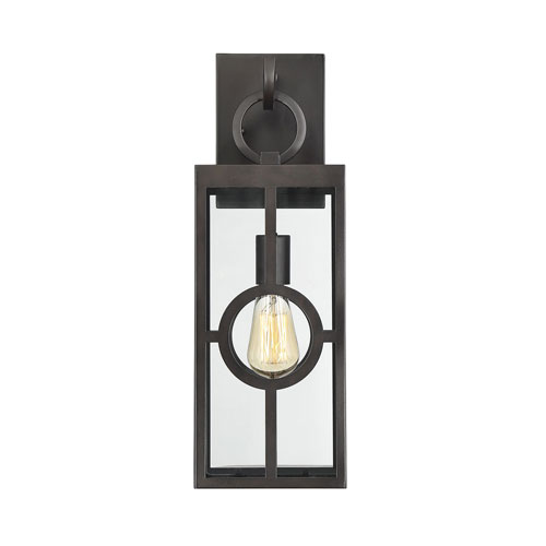 castor English Bronze 19-Inch One-Light Outdoor Wall Sconce