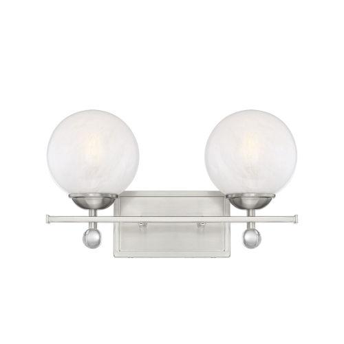 Nicollet Satin Nickel Two-Light Bath Vanity