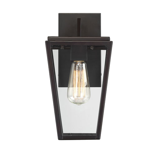 Uptown English Bronze 7-Inch One-Light Outdoor Wall Sconce