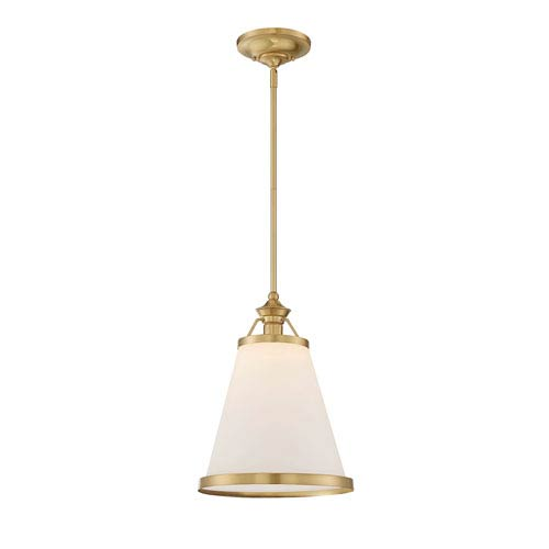 Elle Warm Brass One-Light Pendant