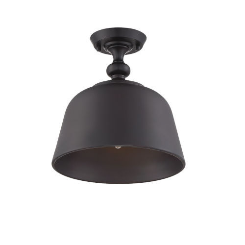 Kate English Bronze One-Light Semi-Flush Mount