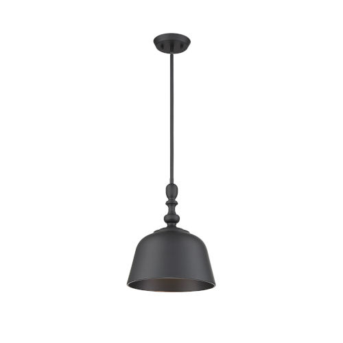 Kate Matte Black One-Light Pendant