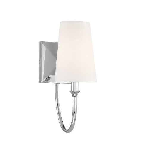 Anna Polished Nickel One-Light Wall Sconce