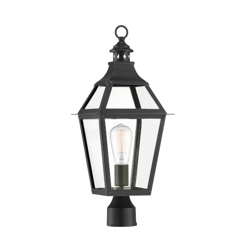 Elle Black and Gold One-Light Outdoor Post Mount