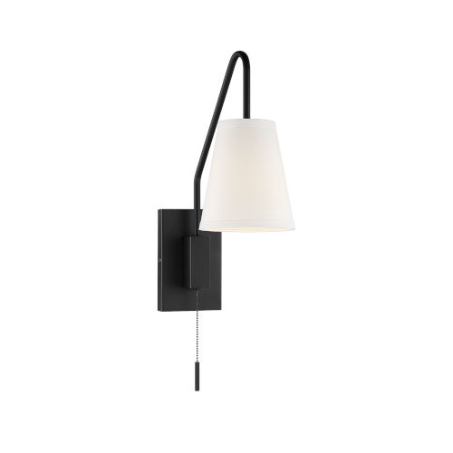 Whittier Matte Black One-Light Wall Sconce