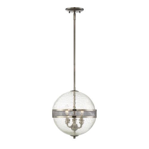 Linden Polished Pewter Three-Light Pendant