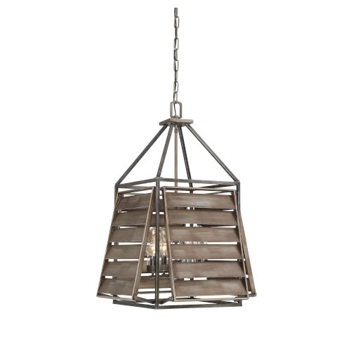 Sophia Aged Driftwood Four-Light Outdoor Pendant