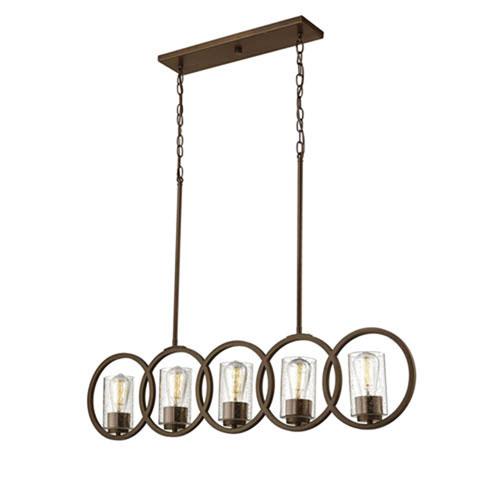 Cora Rubbed Bronze Five-Light Pendant