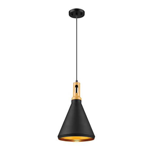 Cora Matte Black One-Light Mini Pendant