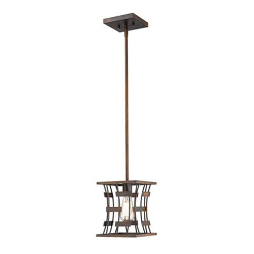 Cora Rubbed Bronze One-Light Pendant