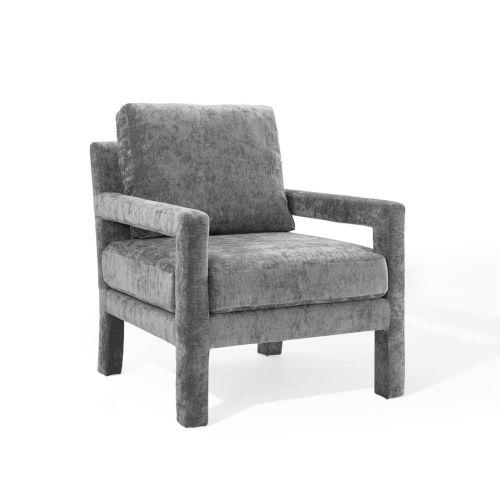 Cooper Gray Velvet Armchair