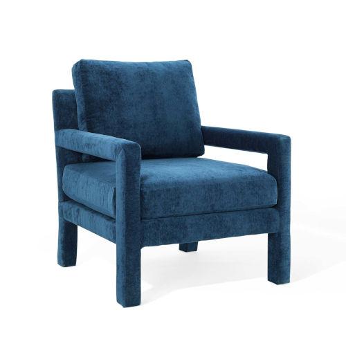 Cooper Navy Velvet Armchair