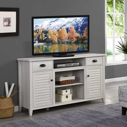 Selby Antique White Tv Stand