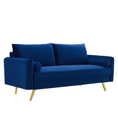 Vivian Navy Upholstered Sofa