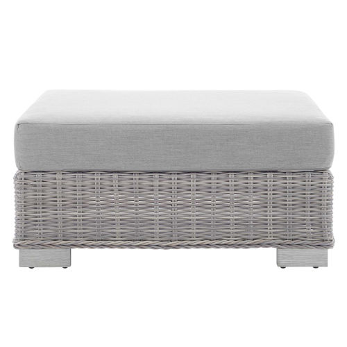 Roat Outdoor Patio Wicker Rattan Ottoman