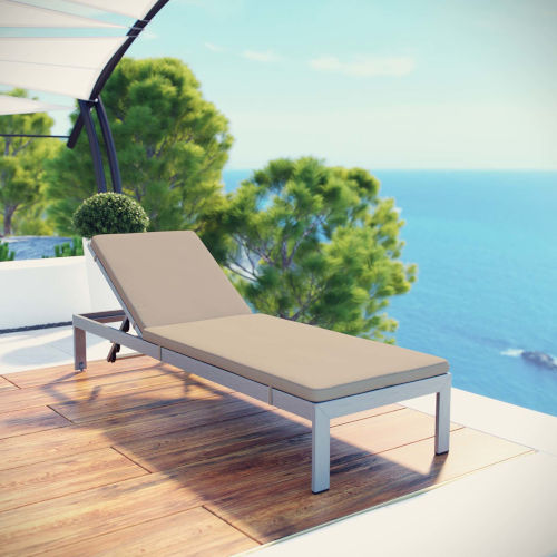 Darren Outdoor Patio Aluminum Chaise with Cushion