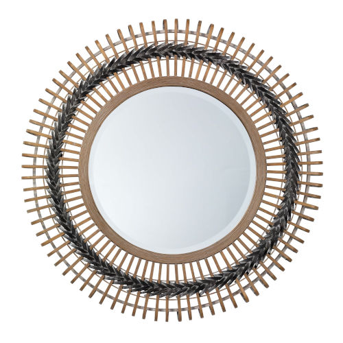 Grace Gray and Natural Wall Mirror