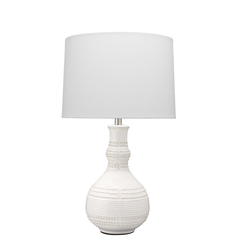 Grace White One-Light Table Lamp