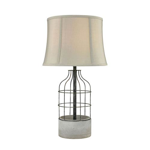 Fulton Oil Rubbed Bronze and Polished Concrete One-Light Table Lamp