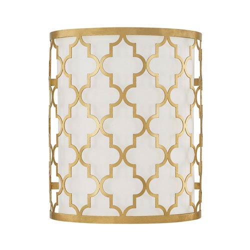 251 First Whittier Gold Two-Light Wall Sconce