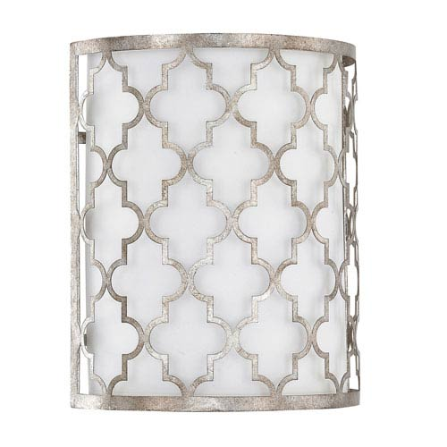 251 First Whittier Antique Silver Two-Light Sconce