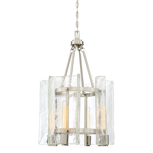251 First Vivian Satin Nickel Four-Light Pendant