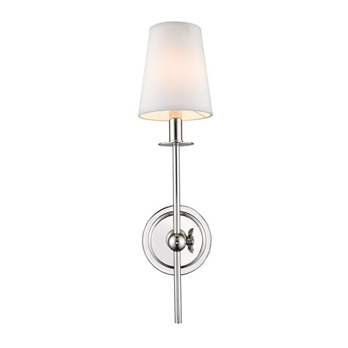 Selby Polished Nickel One-Light Wall Sconce