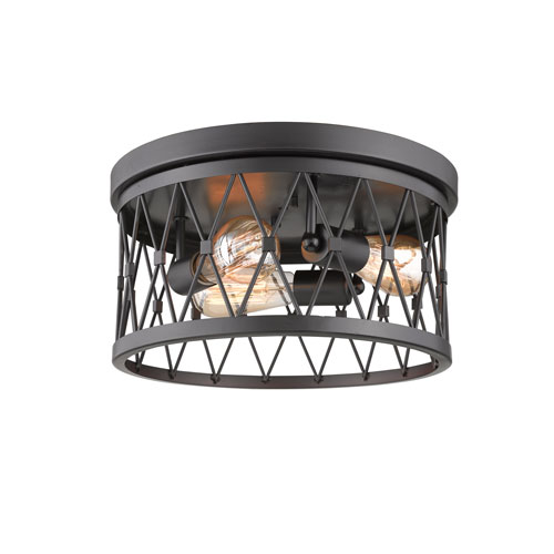 Fulton Bronze Three-Light Flush Mount
