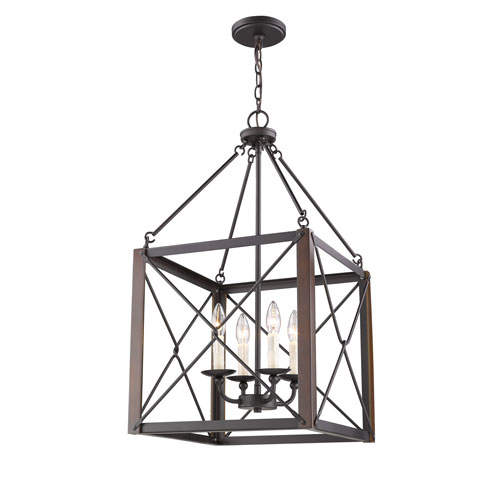 Fulton Bronze Four-Light Pendant
