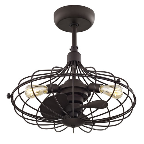 251 First River Station Aged Bronze 19-Inch Three-Light Ceiling Fan