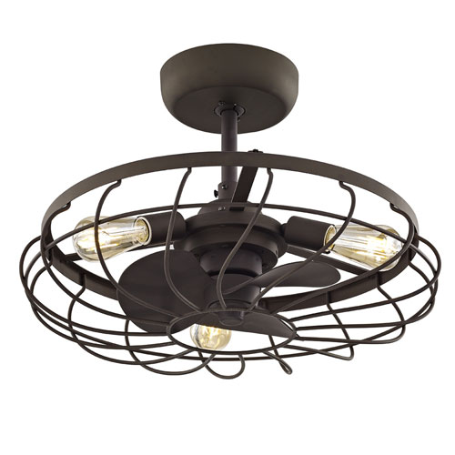251 First River Station Aged Bronze 13-Inch Three-Light Ceiling Fan