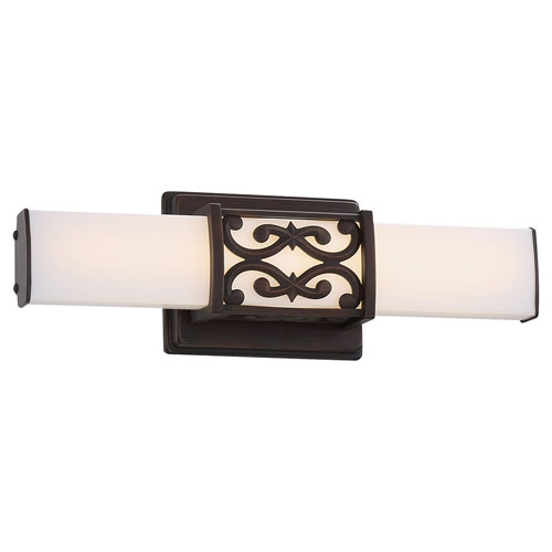 251 First Evelyn Dark Brushed Bronze 16-Inch LED Bath Vanity Light