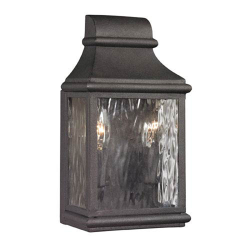 Kenwood Charcoal 11-Inch Two Light Outdoor Wall Sconce