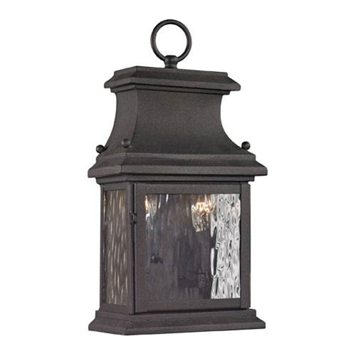 251 First Isles Charcoal 14-Inch Two Light Outdoor Wall Sconce