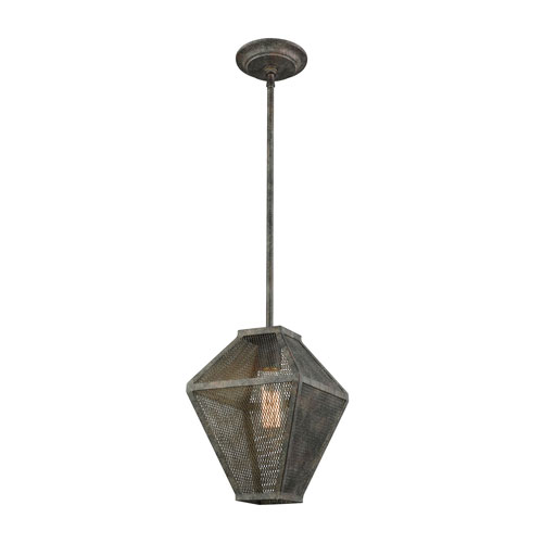 251 First River Station Malted Rust One-Light Mini Pendant