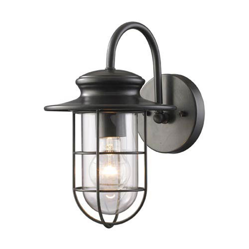 251 First Afton Matte Black One-Light Outdoor Wall Light