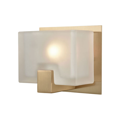 251 First Nicollet Satin Brass One-Light Vanity