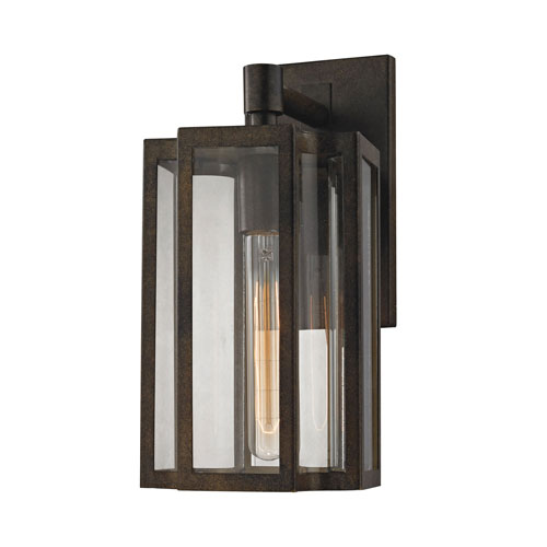 251 First Uptown Hazelnut Bronze 6-Inch One-Light Outdoor Wall Sconce with Clear Glass