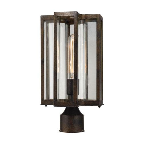 Uptown Hazelnut Bronze One-Light Outdoor Post Lantern