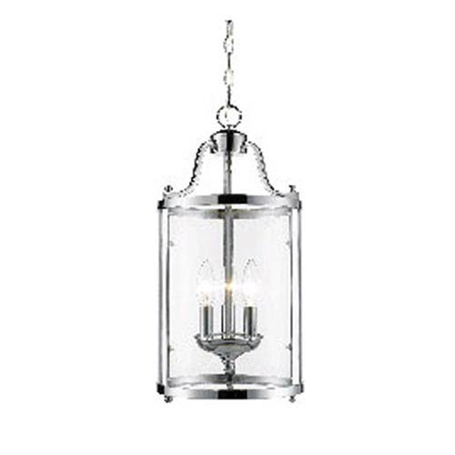 Evelyn Chrome Three-Light Mini Pendant with Clear Glass