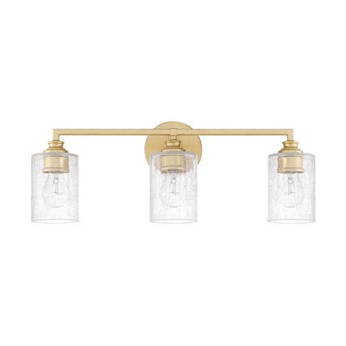 251 First Cooper Gold Three-Light Bath Vanity
