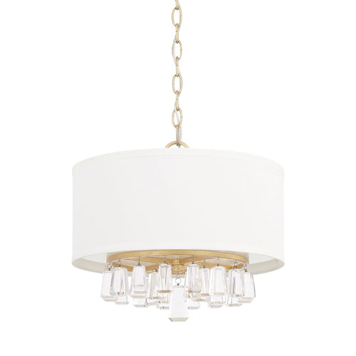 251 First Cooper Gold 15-Inch Four-Light Pendant