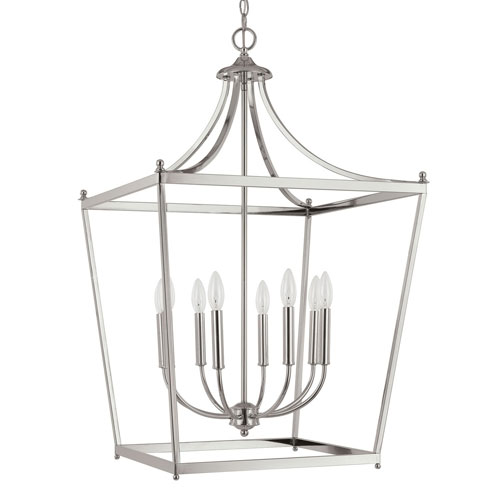 251 First Grace Polished Nickel Eight-Light Foyer Pendant