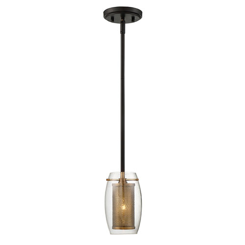 251 First Uptown Warm Brass 5-Inch One-Light Mini Pendant