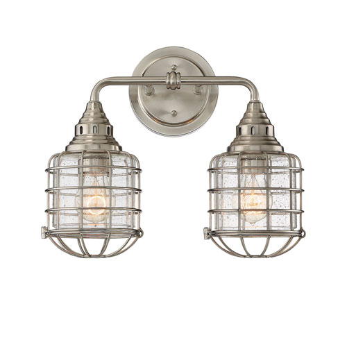251 First River Station Satin Nickel Two-Light Bath