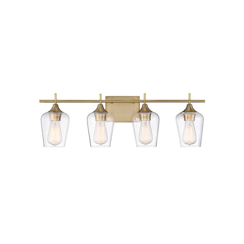 251 First Nicollet Warm Brass 29-Inch Four-Light Bath Vanity