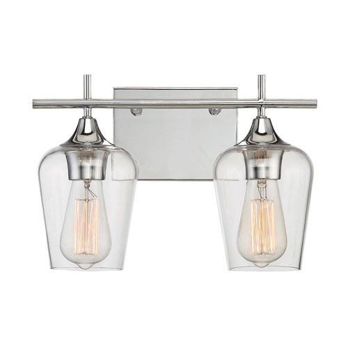 251 First Nicollet Polished Chrome Two-Light Bath Vanity